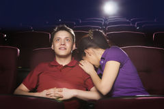 People sitting in movie theater Royalty Free Stock Photography