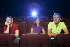 People sitting in movie theater Royalty Free Stock Photo