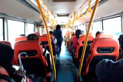 People inside public bus Stock Photos