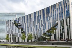 Modern architecture Dusseldorf royalty free stock images