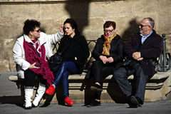 People sitting in the sun 19 Royalty Free Stock Photos
