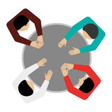 People sitting topview icon Stock Photography