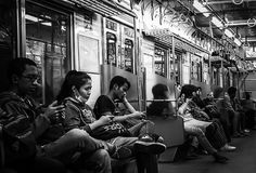People sitting on the train Royalty Free Stock Photography
