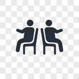 People sitting vector icon isolated on transparent background, People sitting logo design. People sitting vector icon isolated on transparent background, People Stock Photo
