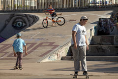 People in a skate park in Durban Royalty Free Stock Photo