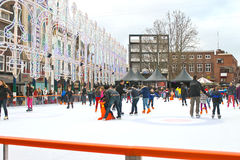 People skate on the rink Royalty Free Stock Photos