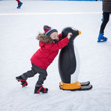People skating on ice rink in Milan, Italy Royalty Free Stock Photos