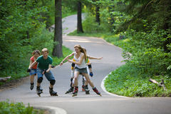 People skating at park Stock Images