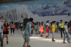 People are skating in SHENZHEN Stock Photo
