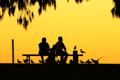 People sketch in dusk Stock Image