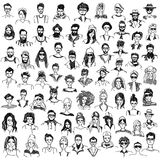People sketches set royalty free illustration
