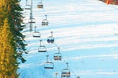 People on a ski lfit Stock Image