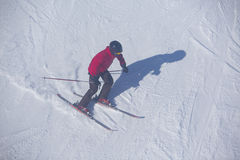 People ski in winter Royalty Free Stock Photos