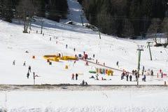 People Skiing Stock Photos