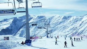 People skiing mountains