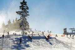 Grouse Mountain Ski Resort Stock Images