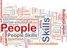 People skills background concept Stock Image