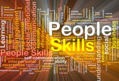 People skills background concept glowing Royalty Free Stock Photography