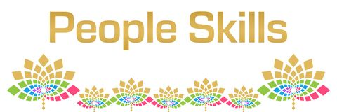 People Skills Colorful Floral Horizontal vector illustration