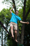 People in the slackline stock photography