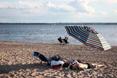 Free People Sleeping On The Beach Stock Photography - 193732392