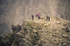 People in Slovak High Tatra Mountains. Stock Image