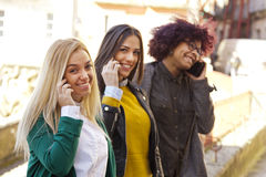 People with smartphone Royalty Free Stock Image
