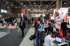 People at Smau exhibition in Milan, Italy Stock Photos