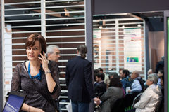 People at Smau exhibition in Milan, Italy Royalty Free Stock Images