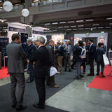 People at Smau exhibition in Milan, Italy Stock Images