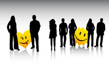 People and smiles Royalty Free Stock Images