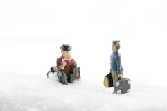 People in the Snow Royalty Free Stock Photography