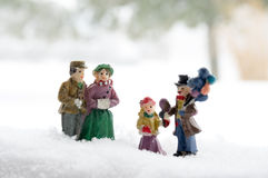 People in the Snow Royalty Free Stock Photos