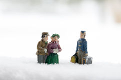 People in the Snow Stock Image