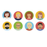 People social avatars Vector characters Stock Photo