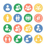 People and social colored icon set. Vector Royalty Free Stock Photo
