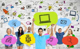 People and Social Communications Concepts Stock Image