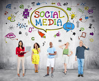 People with Social Communications Concepts stock image
