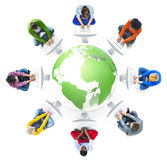 People Social and Computer Network Concepts Stock Image