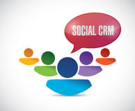 People and social crm message illustration design. Over a white background Stock Images