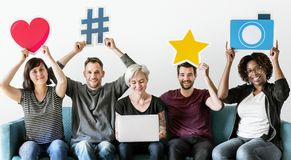 People with social media concept Royalty Free Stock Photo
