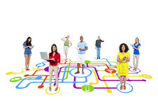 People and Social Media Connection Concepts Stock Photography