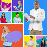 People Social Media Networking Stock Image