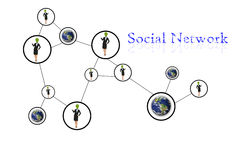 People social network communication Royalty Free Stock Photography
