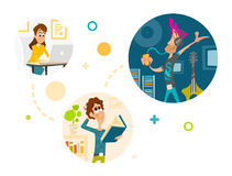 People in social network concept Royalty Free Stock Image