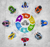 People Social Networking and Cloud Concept. People Social Networking and Cloud Computing Concept Royalty Free Stock Photography