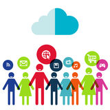 People social networking and communication concept Stock Image