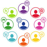 People social networking and communication concept Stock Images