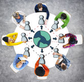 People Social Networking and Computer Network Concept Royalty Free Stock Photos