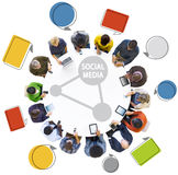 People Social Networking Concept and Speech Bubble Royalty Free Stock Photos